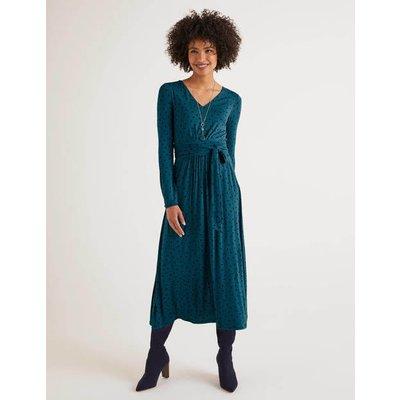 Ferne Jersey Midi Dress Blue Women Boden, Blue