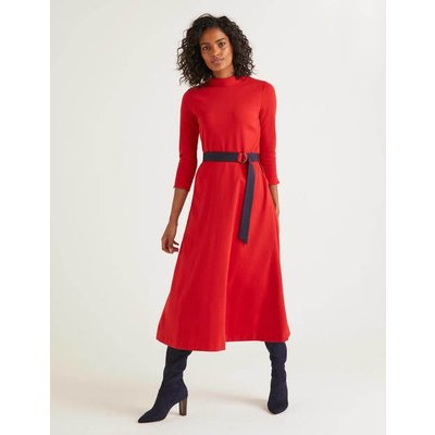 Nerissa Ponte Dress Red Women Boden, Navy