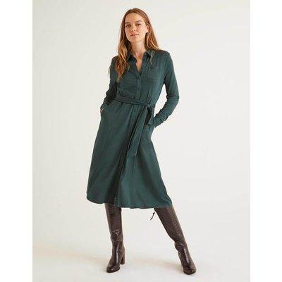Susannah Jersey Shirt Dress Green Women Boden, Green