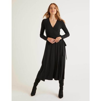 Laurie Jersey Dress Black Women Boden, Black