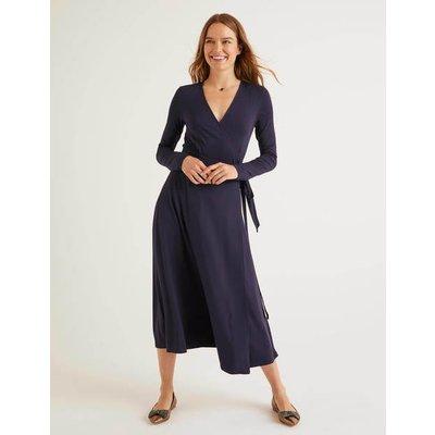 Laurie Jersey Dress Navy Women Boden, Navy