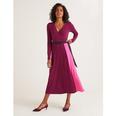 Laurie Jersey Dress Purple Women Boden, Multicouloured