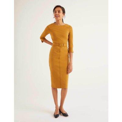 Rosalie Ponte Dress Gold Women Boden, Gold