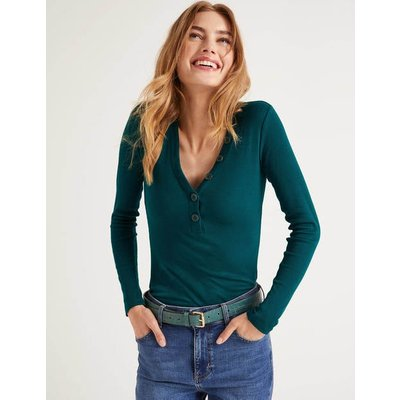 Ida Jersey Top Green Women Boden, Green