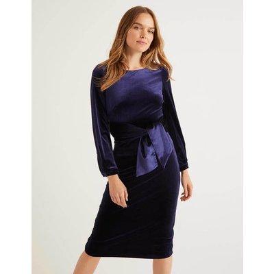 Julianna Velvet Dress Navy Women Boden, Navy
