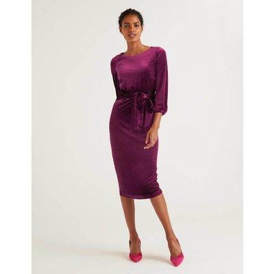 Julianna Velvet Dress Purple Women Boden, Purple