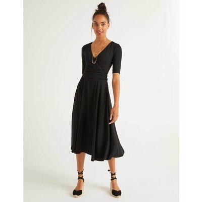Kassidy Jersey Midi Dress Black Women Boden, Black