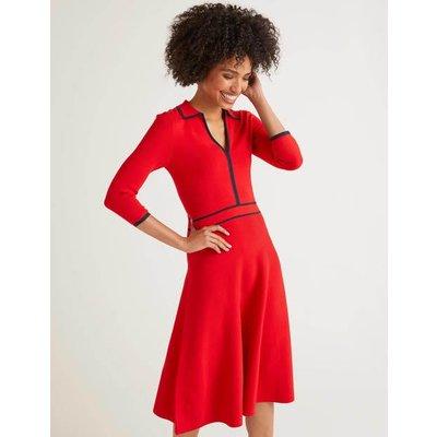 Posie Dress Red Women Boden, Navy