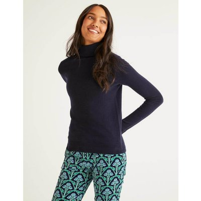 Cashmere Roll Neck Navy Women Boden, Navy