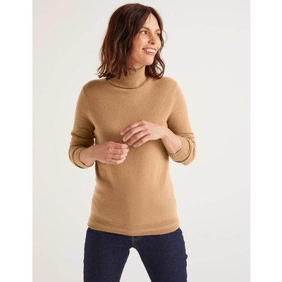 Cashmere Roll Neck Natural Women Boden, Camel