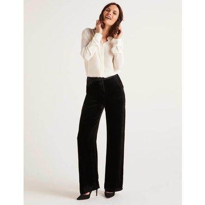 Selwood Velvet Trousers Black Women Boden, Black