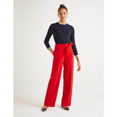 Ketton Wide Leg Trousers Red Women Boden, Red
