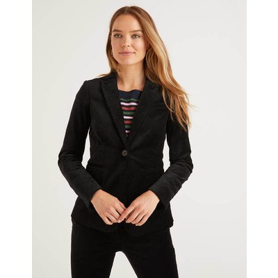 Sackville-West Velvet Blazer Black Women Boden, Black