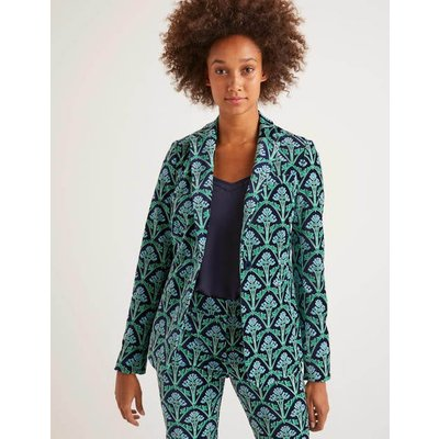 Sackville-West Velvet Blazer Navy Women Boden, Green