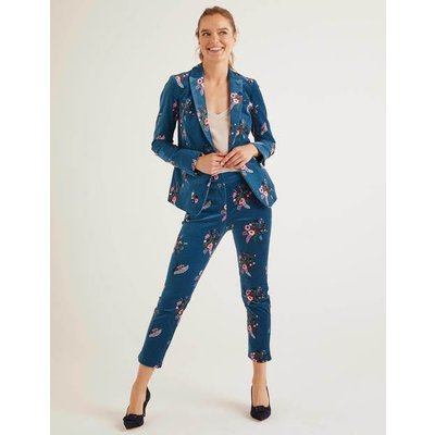 Sackville-West Velvet Blazer Blue Women Boden, Blue