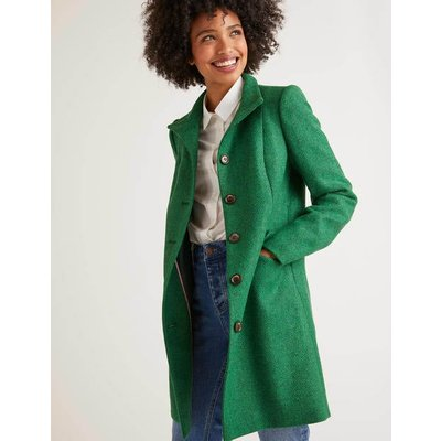 Hengrave Tweed Coat Green Women Boden, Green
