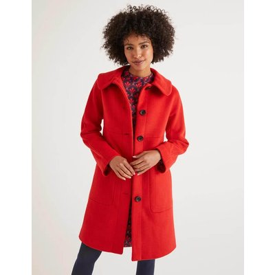 Pym Coat Red Women Boden, Navy