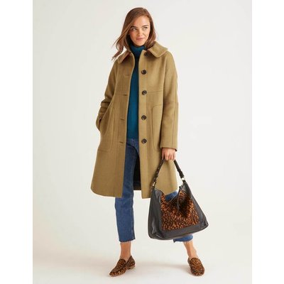 Pym Coat Brown Women Boden, Camel