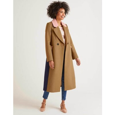 Burney Coat Brown Women Boden, Camel