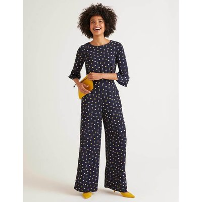 Agnes Jumpsuit Navy Women Boden, Multicouloured