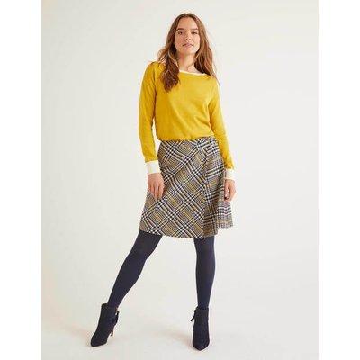 Eleanor Tweed Kilt Yellow Women Boden, yellow