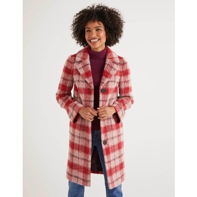 Boudica Coat Multi Women Boden, Pink