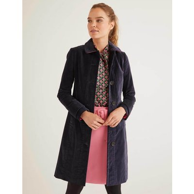 Gwyn Velvet Coat Grey Women Boden, Grey