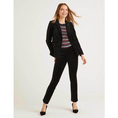 Velvet 7/8 Trousers Black Women Boden, Black