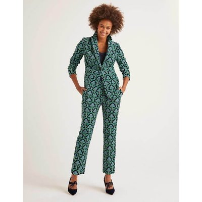 Velvet 7/8 Trousers Navy Women Boden, Green