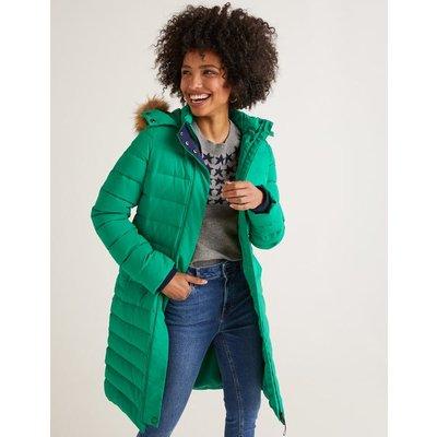 Cavell Puffer Coat Green Women Boden, Green