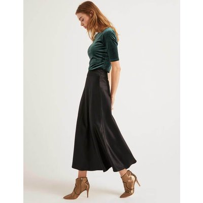 Tessa Midi Skirt Black Women Boden, Black