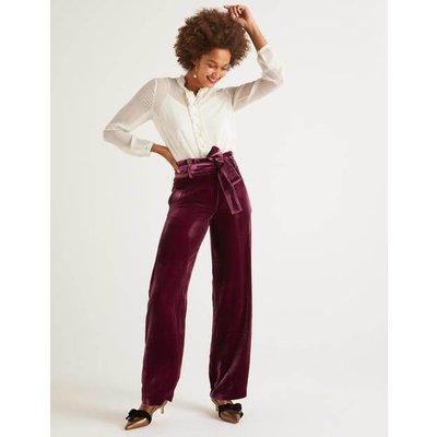 Haverhill Velvet Trousers Purple Women Boden, Purple