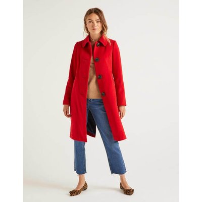 Wilbraham Coat Red Women Boden, Red
