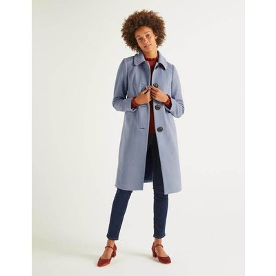 Wilbraham Coat Blue Women Boden, Blue