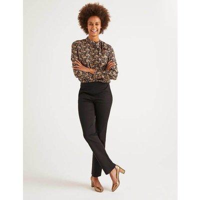 Bath Bi-Stretch Trousers Black Women Boden, Black