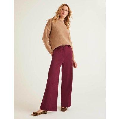 Attingham Wide Leg Trousers Purple Women Boden, Purple