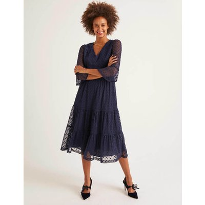Rosanna Embroidered Dress Navy Women Boden, Navy
