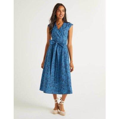 Tori Midi Dress Blue Women Boden, Blue