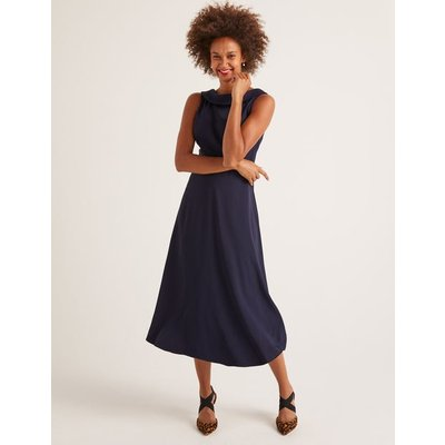 Clarissa Midi Dress Navy Women Boden, Navy