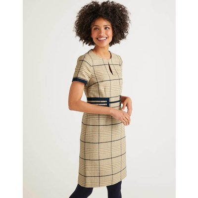 Bridget Tweed Dress Brown Women Boden, Camel