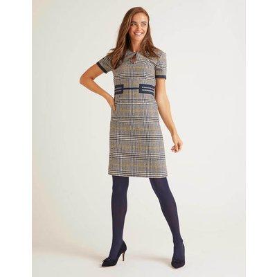 Bridget Tweed Dress Grey Women Boden, Navy