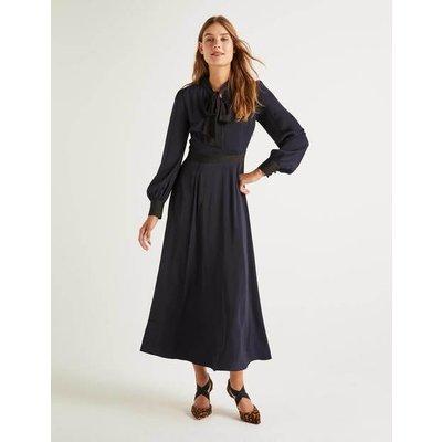 Thelma Midi Dress Navy Women Boden, Navy