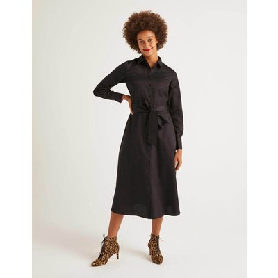 Isodora Midi Shirt Dress Black Women Boden, Black