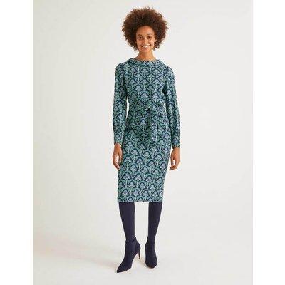 Florrie Dress Navy Women Boden, Green