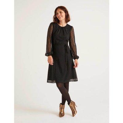 Jenna Embroidered Dress Black Women Boden, Black