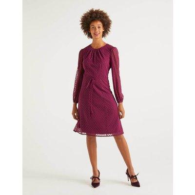 Jenna Embroidered Dress Purple Women Boden, Purple