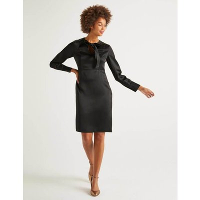 Alicia Satin Dress Black Women Boden, Black