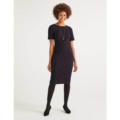 Talia Textured Dress Purple Women Boden, Purple