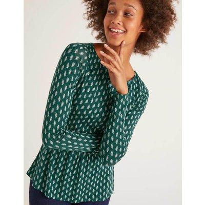 Lucille Jersey Top Green Women Boden, Green