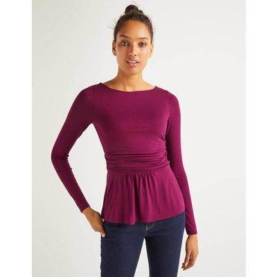 Lucille Jersey Top Purple Women Boden, Purple